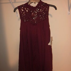 Altard State Red Lace Dress